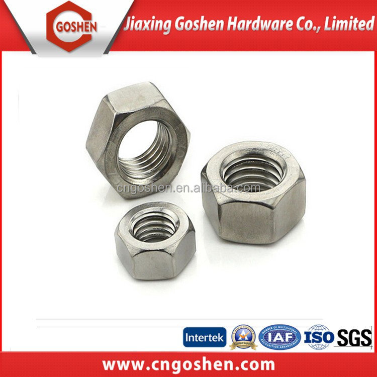 Stainless steel Ss304 DIN934 <strong>Hex</strong> <strong>nut</strong> <strong>M10</strong>