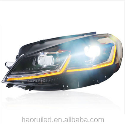 "Longding new car accessories 2012-2017 year fit for VW Golf 7.5 GTI / golf 7 cars led headlight double ""L"" model"
