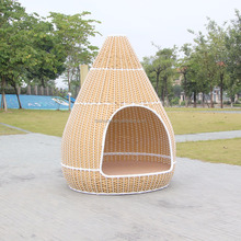 Outdoor Patio Furniture Rattan Kd Structure Bird Nest Hanging Garden Sun Bed