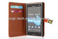 For Sony Xperia S LT26W leather Case, Wallet Leather Case For Sony Xperia Lt26w