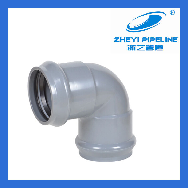 pvc fittings,elbow 90 with rubber ring joint