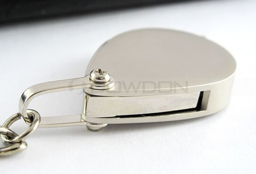 Portable Mini Size Metal Magnifier Keychain Jewelry Loupe