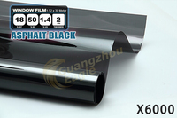 ASPHALT bLACK VLT 18 % Light Green side window tint foil, car window solar film 1.52x30M (X6000)