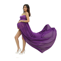 new style low moq fashion chiffon maternity gowns photography maternity dress