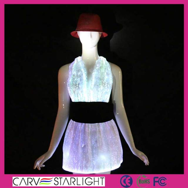 Fashion led light up wholesale tango dance dress costumes