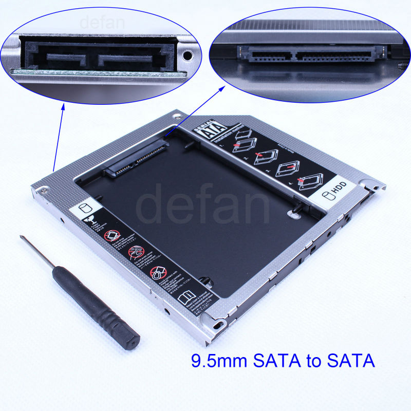 notebook 9.5mm SATA to SATA HDD caddy/case/enclosure for mac