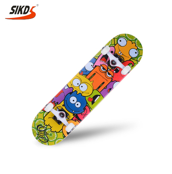 Wholesale SIKD skateboard 7ply canadian maple skateboard pool skateboard