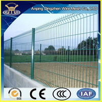 cheap powder coated curved mesh security fence panels made in China