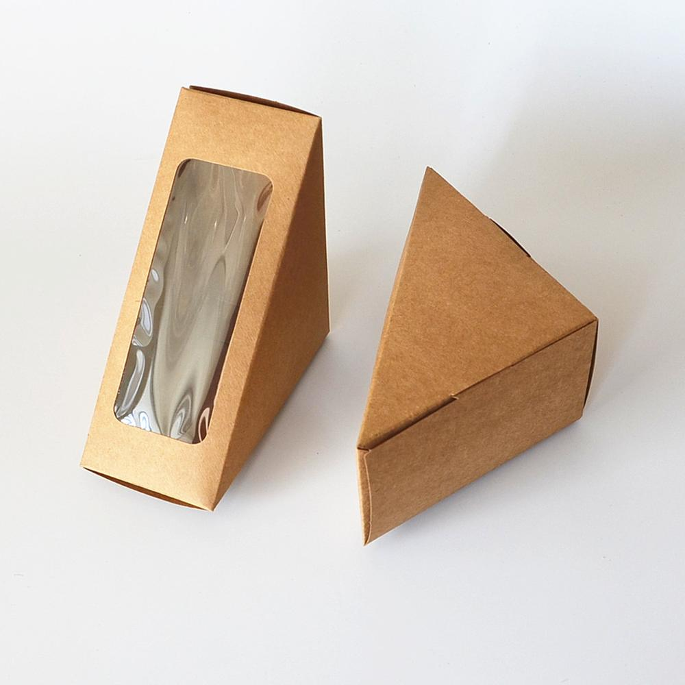 Disposable paper box Cake store Sandwich <strong>c</strong> packaging folding boxes with window cake box