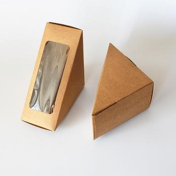 Disposable paper box Cake store Sandwich c packaging folding boxes with window cake box
