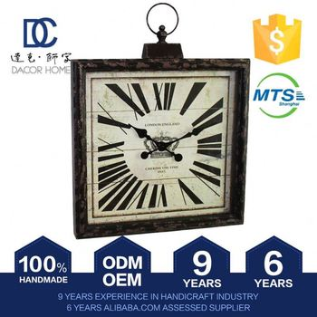 Latest Crazy Lightweight Carriage Antique Control Attendance Clock Glass