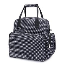 Fashion dot printed tote multi-functional mummy diaper bag