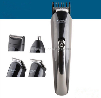 Seven-in-one Household Professional Multifunctional Rechargeable Electric hair clipper/cutter KM-500