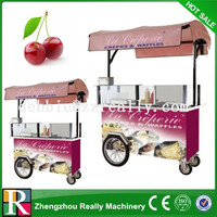 New arrival! 2014 New style CE approved stainless steel+metal material mobile snack sale food cart for sale