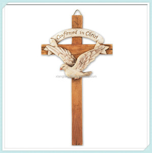 Handmade catholic resin wall cross for craft design