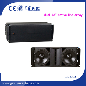 "SPE Audio Powered 12"" Active Speaker Line Array LA-6AD"