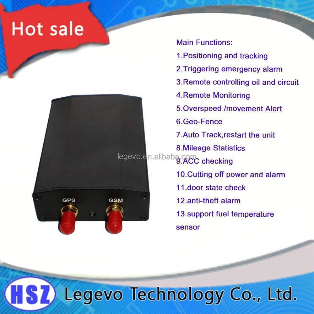 2 Way Communication Truck GPS Tracker with fuel temperature sensor for Fleet Management