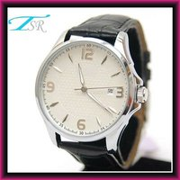 2013 stainless steel case and back good quality crocodile leather watch men