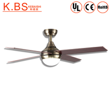 220V Copper Motor 18W LED Light 4 Plywood Blades Ceiling Fan With Light