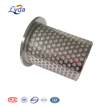 Stainless steel piercing net filter element for water treatment