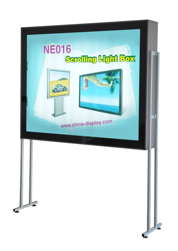 Aluminum frame Moving Picture outdoor/ Indoor Scrolling Light Box