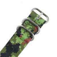 Solid Forest Camo Military Army Nylon Sport Wrist Watch Band Strap