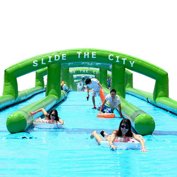 Crazy 1000ft Inflatable Slip And Slide Inflatable Slide The City for Kids And Adults