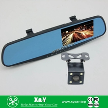 Vehicle blackbox Car Rearview DVR rearview mirror carcam hd car dvr k2000 With CE certificates XY-9064D