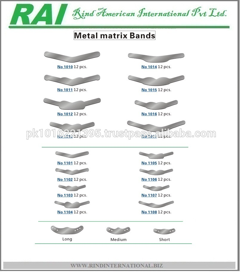 Dental Stainless Steel Tofflemire Matrix Bands (Pack of 12pcs) Dental metal Matrix bands,Matrix Band,