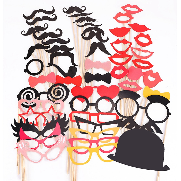 Colorful Wedding Birthday Christmas Party Decoration Photo Booth props mustache Queen Lip Photo Booth Props