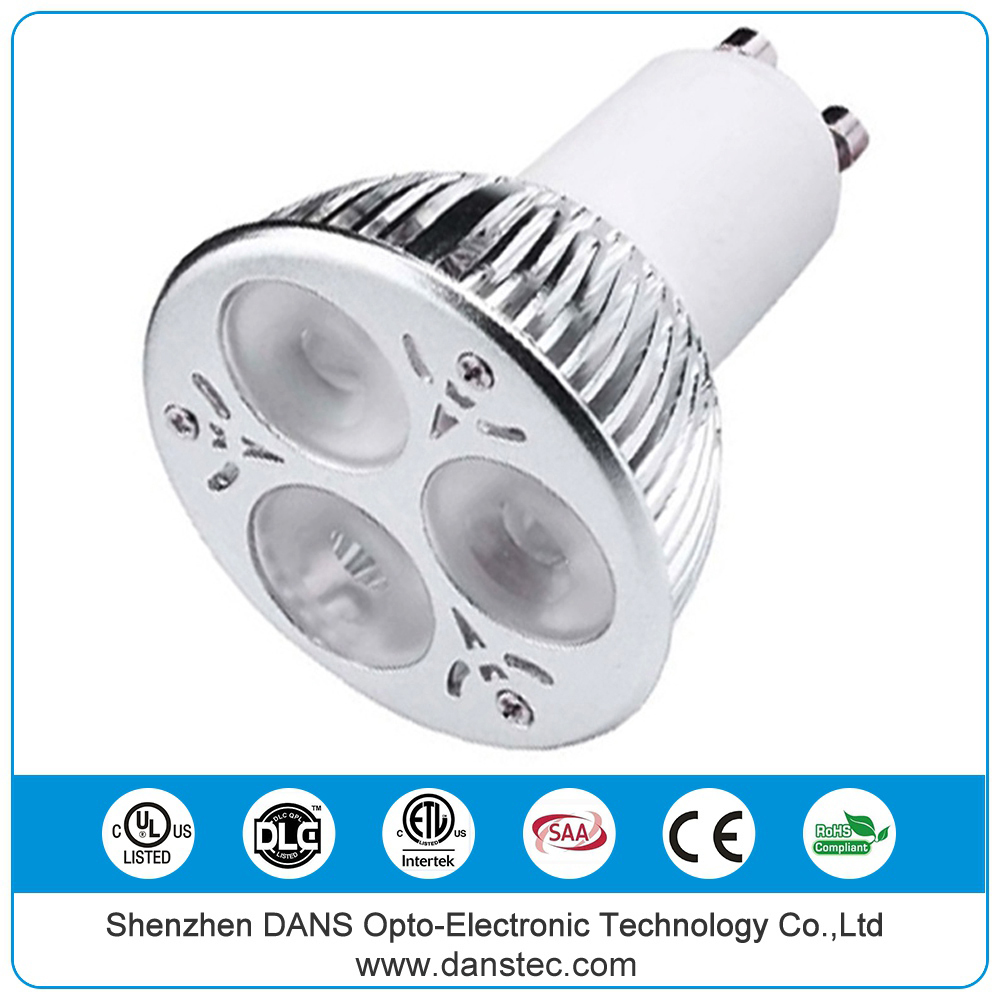 UL CE C-tick RoHS SAA ETL 2700k - 7000k gu10 dimmable 6w led spot light