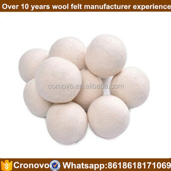 Organic New zealand handmade Merino wool Felt Wholesale Dryer Felted Wool Ball for sale