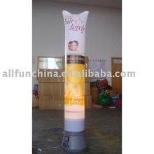 Inflatable pole display, inflatable totem, inflatable light column