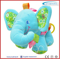 blue pull musical singing elephant animal stuffed plush toy