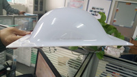 colored Markrolon/GE solid polycarbonate pyramid skylight dome