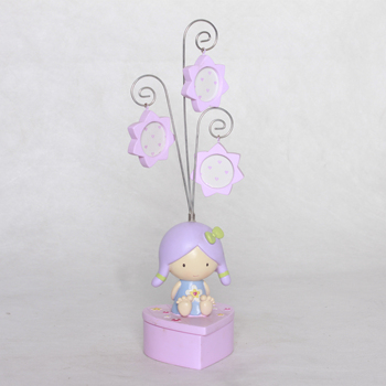 Sweet baby figurine jewelry box with rack home Decoration