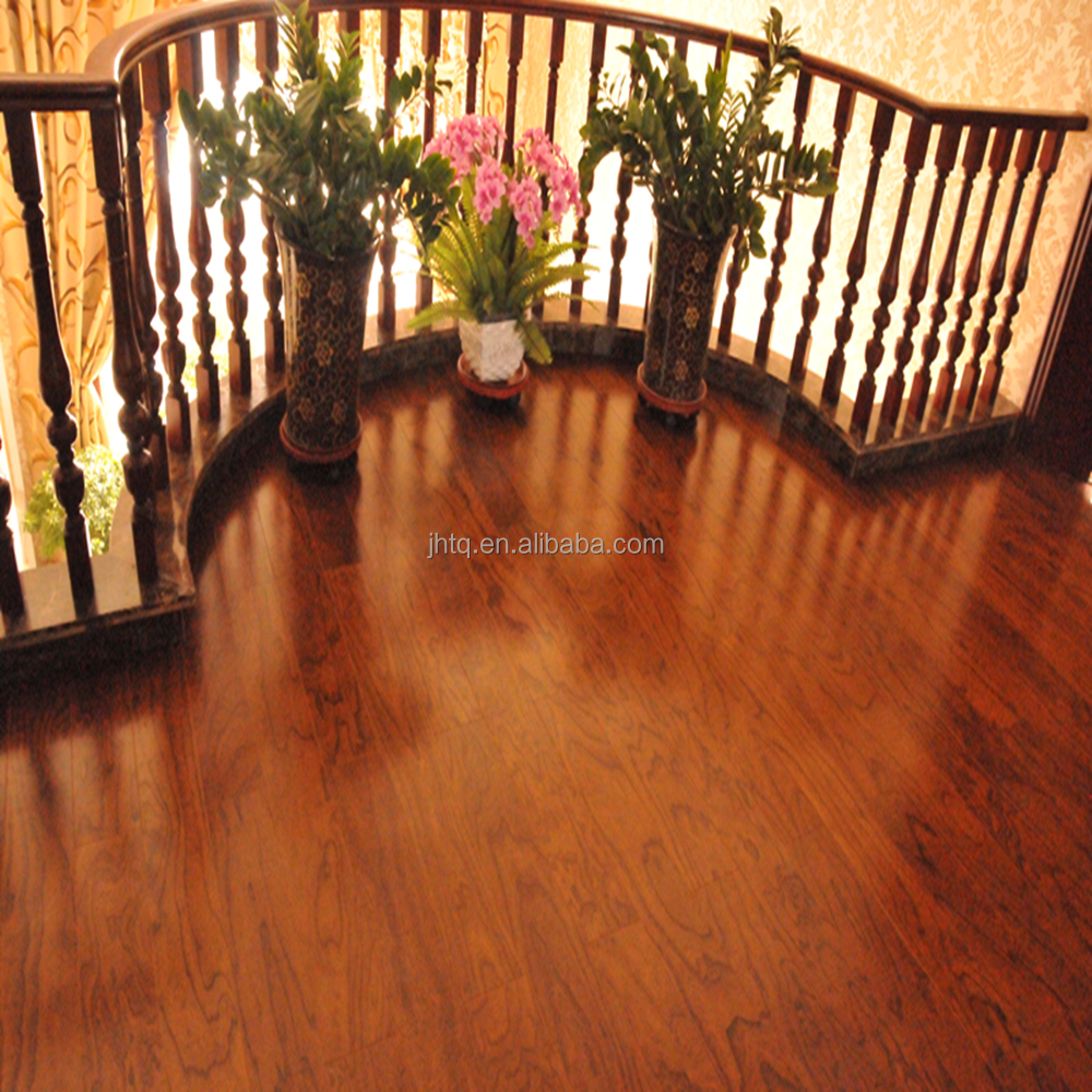 Elm Smooth Multilayer Solid Wood Flooring Competitive Prices
