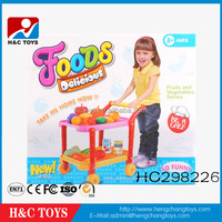 Funny Children Petend Play Serise Kitchen Toy Sets Mobile Food Cart HC298226