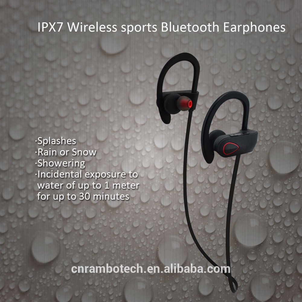 Sweatproof bluetooth headset wireless microphone, RU9 V4.0 wireless spy headphone bluetooth ear phone