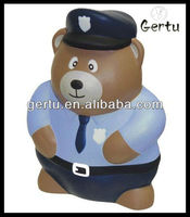 Police Bear Stress relief toy,promotional stress ball