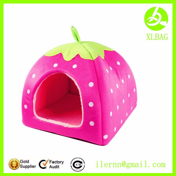 cute soft material pet dog house bag