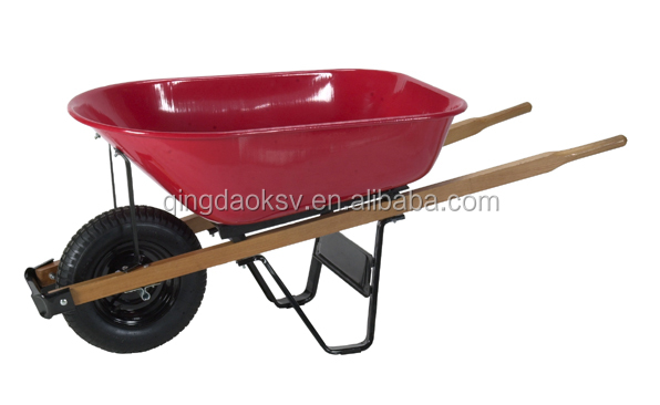 wooden handle metal handle agriculture garden builders wheel barrow t bracket WB6013A