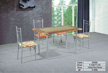 mainstays 5-piece wood and metal dining set , steel table , free shipping , new