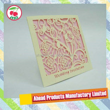 Laser cut Wedding Invitation Pocket Card