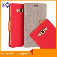 Original Mercury Goospery Canvas Diary Jeans Leather Case For Samsung Galaxy Trend Plus S7580