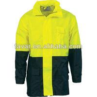 Hi Vis Two Tone Light weight Rain Jacket