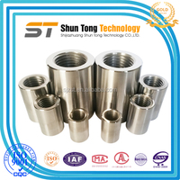 Super connection strength of steel sleeves / Parallel Thread rebar Couplers / Reinforcing Bar Couplers