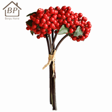Multi colors artificial flowers decorative christmas berry picks branch flower
