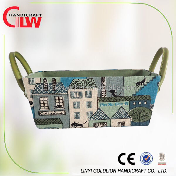 Hot selling cute storage baskets Cartoon printing baby gift baskets