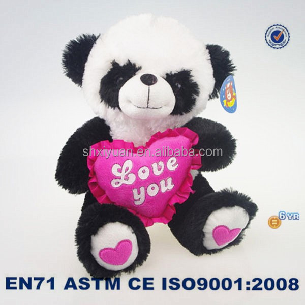 Wholesale plush cute panda toys for valentines day